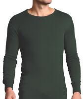 Forestman - Homme Mince Longue Thermique Doux Chaud Vert Sous-Vêtements Haut