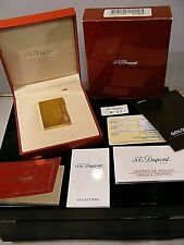 ST DUPONT GOLD PLATED LIGHTER BOXED WITH CERTIFICATES