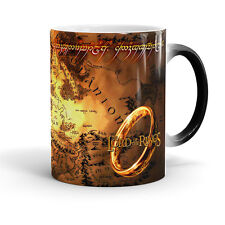 Lord Of The Rings Map Magic mug, LOTR mug, Lord Of The Rings, Middle Earth Map