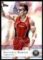 2012 TOPPS OLYMPICS SILVER JONATHAN HORTON GYMNASTICS #80 PARALLEL