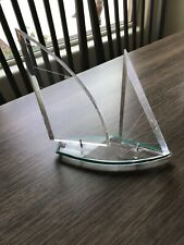 Sailboat desk display clear acrylic 9�x9�x2.5�. Very nice!
