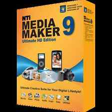 NTI Media Maker 9 Ultimate Ed. - CD DVD BD Burning Multimedia Suite for Windows