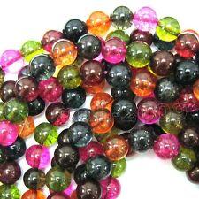 "8mm Natural Watermelon Tourmaline Quartz Round Gemstone Loose Beads 15"" Strand"