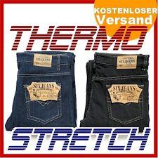 Herren THERMO Jeans Hose STRETCH 5-Pocket Gr. W32-W48 mit Fleece gefüttert