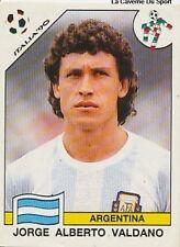 N°132 ALBERTO VALDANO ARGENTINA PANINI WORLD CUP 1990 STICKER VIGNETTE CROMO 90