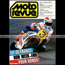 MOTO REVUE N°2601 HONDA CX 650 E PERNOD 250 JEAN BIDALOT GRAND PRIX LE MANS 1983