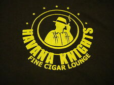 Havana Khights Fine Cigar Lounge T Shirt Large Brown