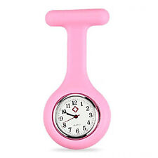 SILICONE GEL Nurses Fob Watch (Washable, Infection Free)Pink B4M7