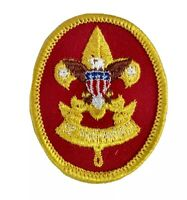 Vintage 1970s FIRST CLASS RANK Boy Scout Badge PATCH BSA Red Yellow