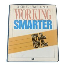 Working Smarter by Michael LeBoef Audio Book on Cassette Tape Get More Done Rare