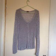 Ladies Grey Merci Crochet Style/Design Long Sleeved Cardigan Size M/L