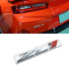 Silver & Red ZL1 trunk Badge Emblem Rear Hood Nameplate Sticker For Chevy CAMARO