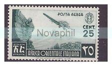 AOI  1938 -  POSTA AEREA   Centesimi  25   NUOVO **