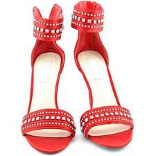 Sandali e scarpe rosse tessile casual per il mare da donna