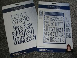 Tattered Lace Word Craft Uppercase and lowercase Alphabet Dies..