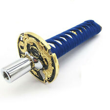 200mm Blue Universal Samurai Sword Shift Knob Gear Metal Weighted With Adapters