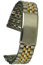 In acciaio inox-CINTURINO BICOLORE 18 mm jubileestyle dritta incentiverà Faltschliesse