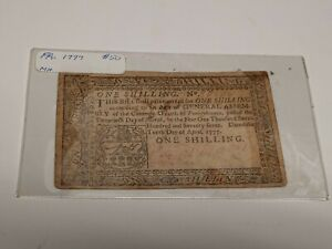 1773 Pennsly. $1.00 Colonial Currency! Cool historical note... ROUGH AND RARE!!