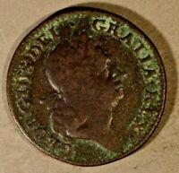 1724 Hibernia 1/2 Penny Porous with Vertigris     ** Free U.S. Shipping **