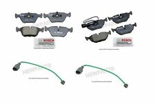For BMW e32 e34 Brake Pad KIT Set Front+Rear BOSCH Pads+Sensors friction linings