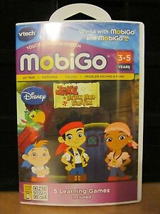 Vtech MobiGo Touch Learning Game DISNEY JAKE NEVERLAND PIRATES 3-5 YEARS  NEW