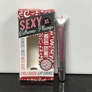 soap & glory sexi XL Extreme-Plump Collagen Lip Shine clear limited edition