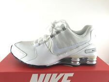 Nike Shox Avenue Running Shoes White Metallic Silver Black Size 12 833583-101