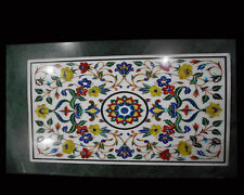 SIZE 3'X2' Marble Corner Coffee Table Top Inlay Mosaic Floral Art Home Decor