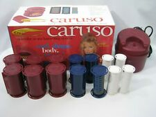 Vtg Caruso Molecular Hairsetter Steam Electric Hot Rollers w 14 Curlers Pageant