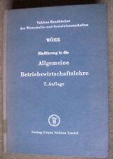 Einführung in die Allgemeine Betriebswirtschaftslehre-Wöhe-7.Auflage,selten