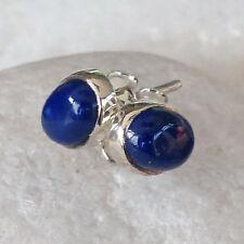 Unbehandelte Ohrschmuck im Ohrstecker-Stil mit Lapis Lazuli echten Edelsteinen