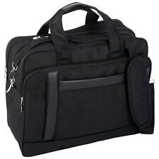 Bag Briefcase Computer Maxam Laptop Nylon Black Business Tote Tablet Expandable
