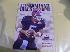Buffalo Bills vs Miami Dolphins Official Program, Rogers Centre Dec. 7/2008
