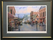 "Thomas Kinkade ""Main Street Trolley"" Framed Lithograph"