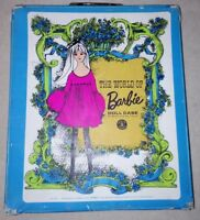 The World Of Barbie Doll Case No.1002 Blue Vintage 1968 Doll Carrying Case