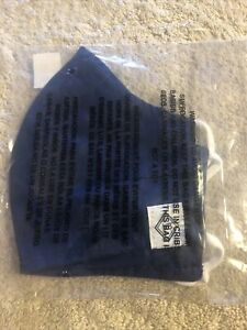 Vera Bradley - Face Mask Cotton - Fitted Mask W/Adjusters- Hale Blue- NEW-SEALED