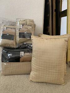 Hotel Collection Textured Jacquard Duvet Set Full/Queen w/Euro & Standard Shams
