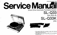 Technics SL-Q33 SL-Q33K dir Drive Automatic Turntable System Service Manual Buch