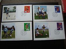 FRANCE - 4 enveloppes 1er jour 1/6/1996 (football) (cy89) french