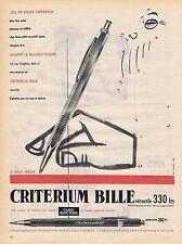 PUBLICITE ADVERTISING 045 1956 CRITERIUM Bille stylo