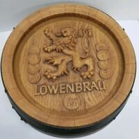 Vintage Lowenbrau Round Plastic Beer Barrel Large Bar Sign, Mancave, 18 inches!