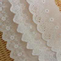 1yd Sahne Baumwolle Spitze Stoff Borten Bänder Applique Strip DIY Nähen Zubehör