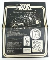 Imperial Troop Transporter Kenner Star Wars 1979 Instruction Manual