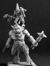 1x GRONKELFIBBETS & MAZAK - WARLORD REAPER miniature rpg goblin cyclop 14396