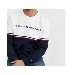 Tommy Hilfiger Long Sleeve Sweatshirt Crew Neck in 100% Cotton