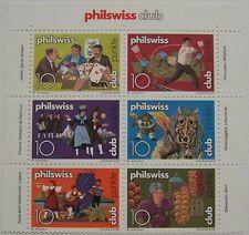 Zwitserland - Veldeel van 6 Philswiss club zegels (1)