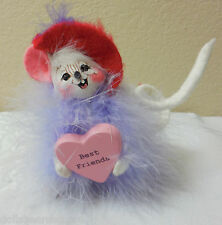 """NWTMWT 2006 Annalee 4"""" """"RED HOT VALENTINE MOUSE"""" Doll #031206 Open Eyes Red Hat"""