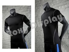 Male Fiberglass Headless Athletic style Mannequin Dress Form Display #Mz-Ni-1