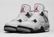 2016 Nike Air Jordan 4 IV Retro White Grey Cement Size 8. 840606-192 1 2 3 5 6