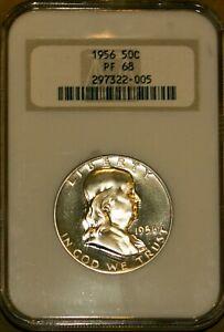 1956 50C Silver Franklin Half-dollar PF 68 NGC 297322-005 + Bonus